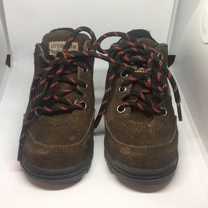 Stride rite brown light up boots size7 1/2